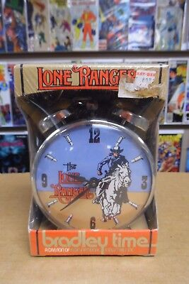 Vintage The Official The Lone Ranger Double Bell Wind Up Alarm Clock Bradley