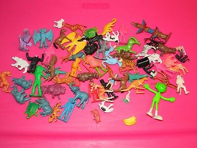 Junk drawer lot Diener Marx Marty Hong Kong plastic figures Tee Mee 1970's