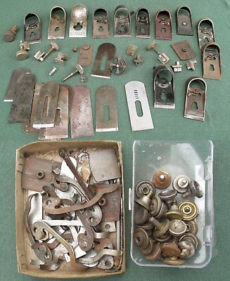 Large lot of mostly Stanley block plane parts