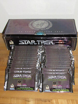 Star Trek Reflections of the Future Phase 3 Box of 36 Sealed Packs SkyBox 30th