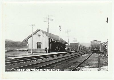 Railroad photo: Boston & Maine station, Westminster, Vermont