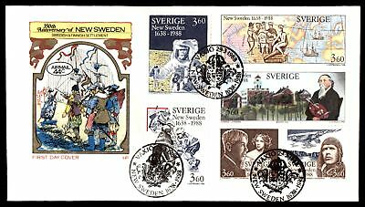 Mayfairstamps NEW SWEDEN 350TH ANNIVERSARY FARNAM CACHET ON UNSEALED FDC
