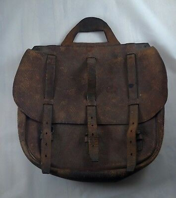 Wwi Us Army Officers Leather Mail Bag Vintage Original