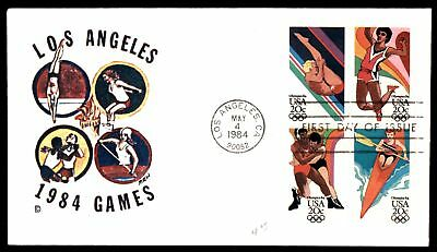 Mayfairstamps LOS ANGELES CA GAMES BLOCK DC CACHET ON UNSEALED FDC