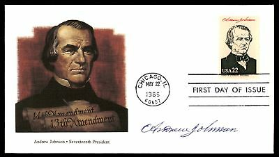 Mayfairstamps ANDREW JOHNSON 17TH US PRESIDENT FLEETWOOD CACHET ON UNSEALED FDC
