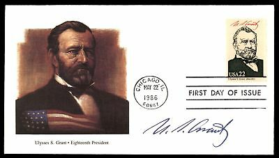 Mayfairstamps ULYSSES S GRANT 18TH US PRESIDENT FLEETWOOD CACHET ON UNSEALED FDC