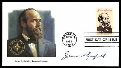 Mayfairstamps JAMES A GARFIELD 20TH US PRESIDENT FLEETWOOD CACHET ON UNSEALED FD