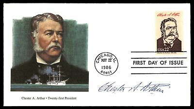 Mayfairstamps CHESTER A ARTHUR 21ST US PRESIDENT FLEETWOOD CACHET ON UNSEALED FD