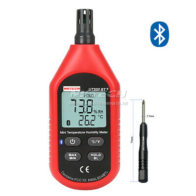 NKTECH UT333BT+ Bluetooth Min Digital Air Temperature Humidity Meter Thermometer