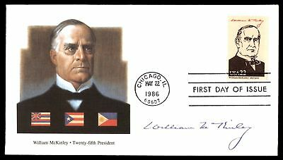Mayfairstamps WILLIAM McKINLEY 25TH US PRESIDENT FLEETWOOD CACHET ON UNSEALED FD