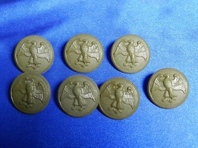 EIGHT Original WWII US WAC Women's Army Corps Walking Eagle Large Buttons VT1312