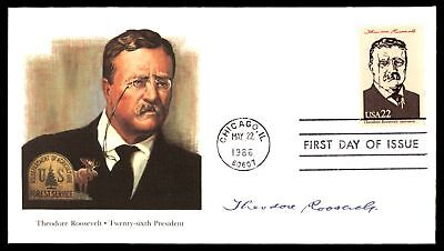 Mayfairstamps THEODORE ROOSEVELT 26TH US PRESIDENT FLEETWOOD CACHET ON UNSEALED