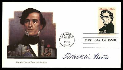 Mayfairstamps FRANKLIN PIERCE 14TH US PRESIDENT FLEETWOOD CACHET ON UNSEALED FDC