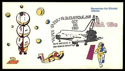 Mayfairstamps ALBUQUERQUE NM ALPEX OCT 16 1981 SPACE SHUTTLE CACHET ON COVER