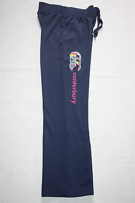 Canterbury Ladies Womens Uglies Fleece Open Hem Track Pants, sizes 6 8 only