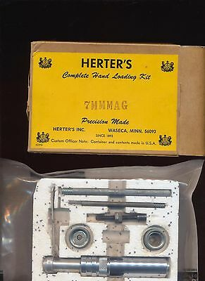 HERTER'S VINTAGE HAND LOADING KIT 7mm MAG IN ORIGINAL BOX PRECISION MADE USA