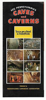 See Pennsylvania's Caves and Caverns Vintage Travel Brochure, Mar