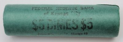 "Silver Roosevelt Dime Roll $5 BU Uncirculated ""D"" Mint Unknown Year 1946-1964 01"