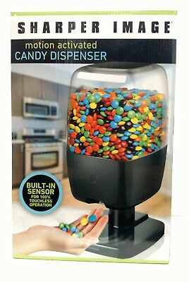 New Sharper Image Motion Activated Automatic Candy Nut Gumball Dispenser - Black