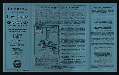 Seaboard Air Line Railway 1934-1935 Time Tables
