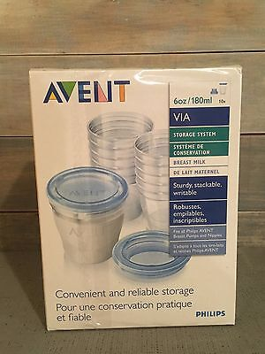 Philips Avent BPA Free Breast Milk Storage Starter Set, Clear 6 Ounce, 10 Count