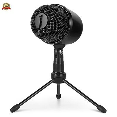 1byone USB Microphone with Tripod, Mute Button with LED, Plug Play Cardioid Cond