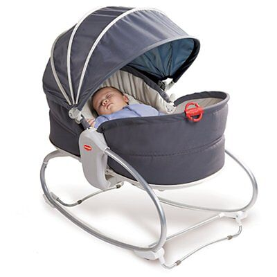NEW Tiny Love Cozy Rocker Napper Grey/Denim