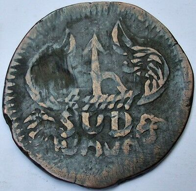 1813 Mexico 8 Reales Oaxaca SUD Copper Coin War of Independence- Three struck