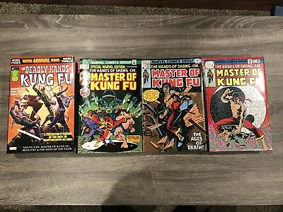 Master of Kung Fu Shang-Chi Omnibus 1 2 3 Deadly Hands 1 DM Variant Covers