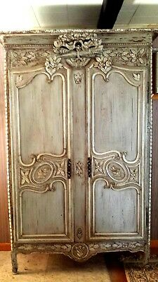 ANTIQUE FRENCH WEDDING ARMOIRE Circa 1812 From NORMANDY FRANCE