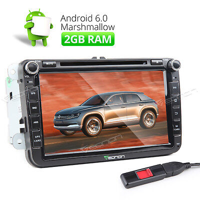 Android 6.0 2GB GPS Car Stereo DVD USB/SD WIFI Radio A For Volkswagen/Seat/Skoda