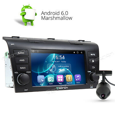 """7"""" TouchScreen Android 6.0 Car Stereo GPS Navigation for Mazda 3 WiFi A +DashCam"""