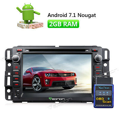 """7""""Android 7.1 Car DVD GPS In Dash Radio Stereo for Chevrolet GMC OBDII Scanner A"""