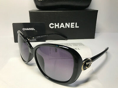 SunglassesCHPolarized&& Chanel₃ Womens Round Black/Gold Lens