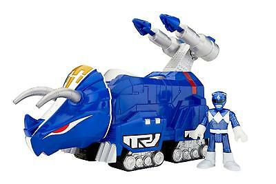Fisher-Price Imaginext Power Rangers Blue Ranger and Triceratops Toy Figure