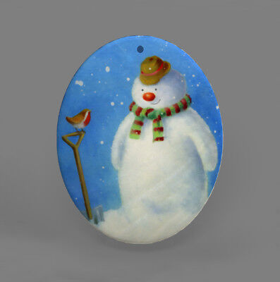 Color Printing Snowman Shell Christmas Pendant Necklace R1709 0034