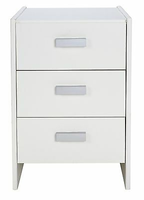 HOME New Capella 3 Drawer Bedside Chest - White.