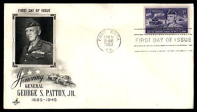 Mayfairstamps GENERAL GEORGE S PATTON JR US 3c ISSUE ARTCRAFT CACHET ON SEALED F