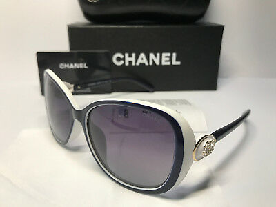 SunglassesCHPolarized## Chanel₅Womens White/Gold Embellished Lens