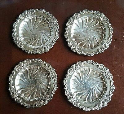 Wallace Baroque Silverplate Coasters 743