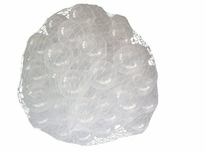 100 Balls for Pit in the Colour Transparent Children, Babies or Animals