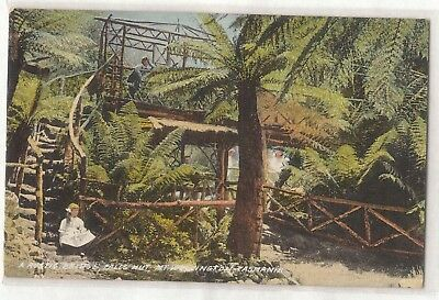 Vintage Postcard Rustic Bridge, Falls Hut, Mt. Wellington Tasmania