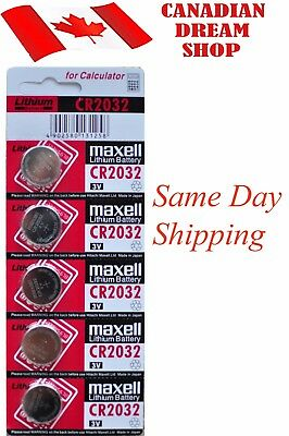 5 PC Fresh MAXELL CR2032 DL2032 3V lithium batteries battery Genuine EXP:12-2027