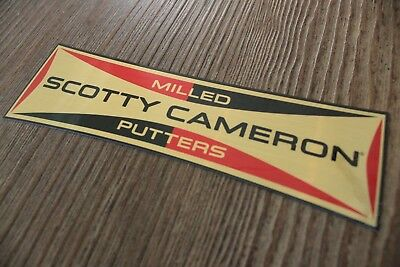 New Scotty Cameron Gold Milled Putters Decal Sticker Rare