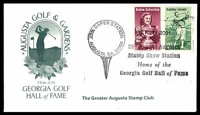 Mayfairstamps AUGUSTA GA GAPEX STATION OCT 27 2001 HALL OF FAME CACHET ON COVER