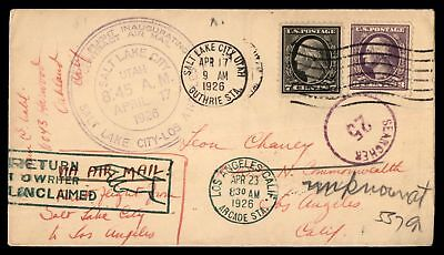 Mayfairstamps SALT LAKE CITY UT FIRST FLIGHT CAM APR 17 1926 AIR MAIL COVER WITH