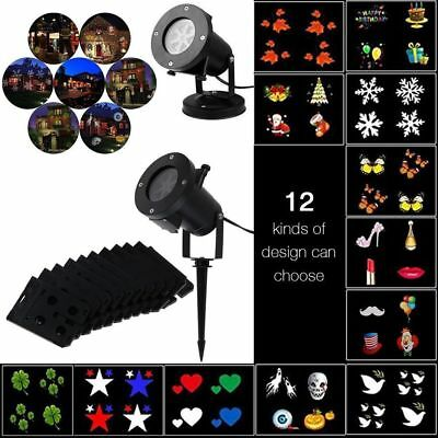 4/12 Pattern LED Laser Landscape Projector Light Lamp Christmas Xmas Party AU