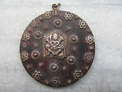 Indian Tribal Vintage Look Silver Necklace Pendant Jewelry Beautiful Carving
