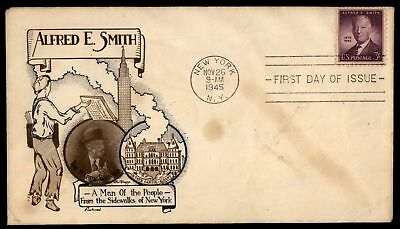 Mayfairstamps  ALFRED E SMITH FLEETWOOD CACHET ON SEALED FDC