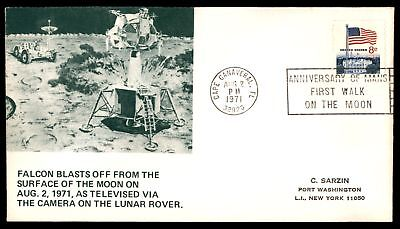Mayfairstamps FALCON BLASTS OFF FROM MOON AUG 2 1971 LUNAR ROVER CACHET ON COVER